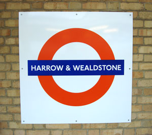 Harrow and Wealdstone Station sign