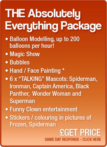 THE Absolutely Everything package party package details