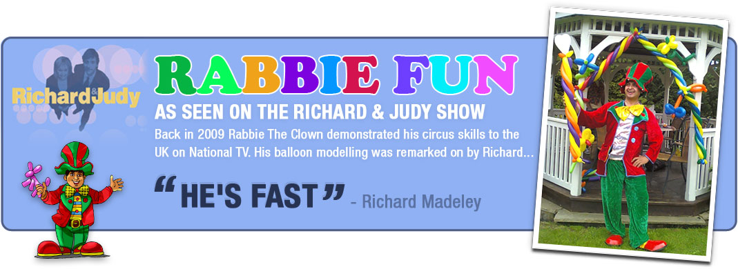 The clown entertainer who performed on the richard and judy show